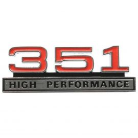 FORD XW GT 351 HIGH PERFORMANCE FENDER/BOOT BADGE