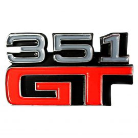 FORD XA GT 351 GT COUPE FENDER REAR PANEL BADGE
