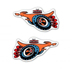 FORD XY GT SUPER ROO SMALL FENDER DECAL PAIR