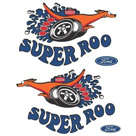 FORD XW GT SUPER ROO LARGE FENDER DECAL PAIR