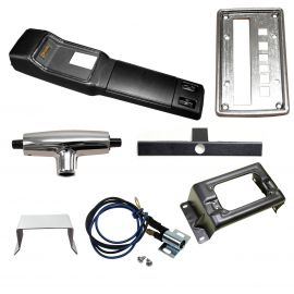 FORD XW XY GT HO BLACK PLASTIC CONSOLE KIT AUTO
