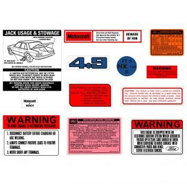 FORD XE ZK 4.9 V8 DECAL KIT