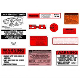 FORD XE ZK 5.8 V8 DECAL KIT