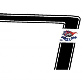 FORD XW FALCON GT BLACK SUPER ROO STRIPE DECAL KIT