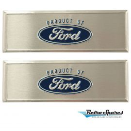 FORD FALCON/MUSTANG SCUFF PLATE LOGOS (PAIR)