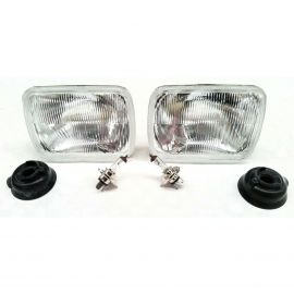 NISSAN NAVARA D21 86-97 HEADLIGHTS LAMPS H4 SET WITH BULBS