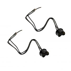 FORD ROUND 3 PIN H4 HEADLIGHT SOCKETS (2 PACK)
