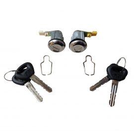 MAZDA RX3 FRONT DOOR LOCK SET PAIR WITH KEYS