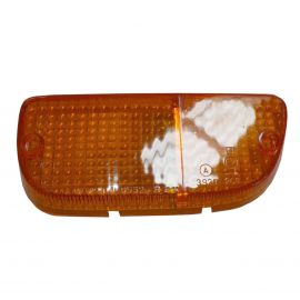 MAZDA RX2 RX3 RX4 808 929 LEFT PARK LAMP LENS ORANGE