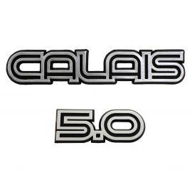 HOLDEN VK-VL CALAIS & 5.0 BOOT STRIP BADGE SET 2 PC