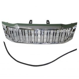 PRADO STYLE GRILLE CHROME TRIM H3 WITH RUBBER STRIP FOR TOYOTA HILUX 2012-ON