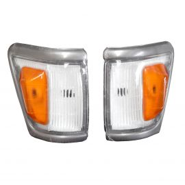 GREY FRONT CORNER INDICATOR LIGHTS PAIR FOR TOYOTA HILUX SR5 LN106 4WD 4X4