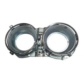 RIGHT HEADLIGHT BUCKET WITH RETAINER RINGS FOR DATSUN 1600